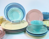 Vintage Lu Ray Pastels Dinner Service for Four 1947 to 1951