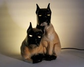 Vintage TV Lamp / Light 1950s Leland Claes Boxer Dog for Pet Lover