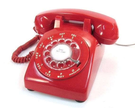 Vintage Rotary Red Telephone 1968 Stromberg Carlson