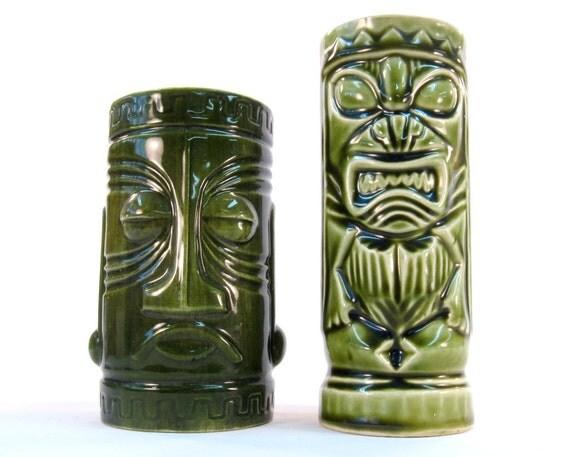 Vintage Tiki Mug / Goblet Set of Two / Made in Japan