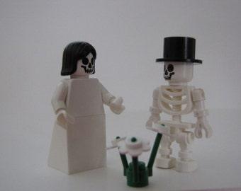 Lego BRIDE & GROOM Wedding Minifigs Skeleton Deadheads