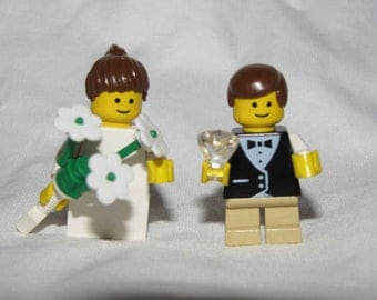 Lego Ring BEARER & Flower GIRL Wedding Minifigs bride legos