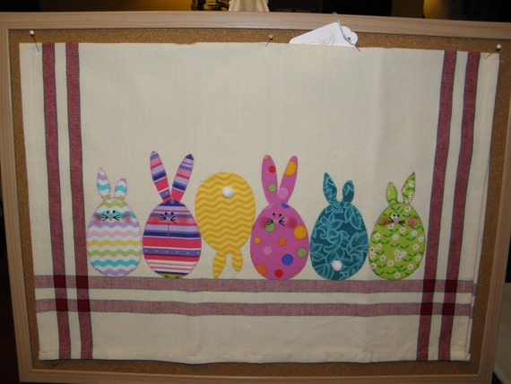 Easter Bunnies on Fence Hand Towel