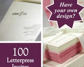 Letterpress printing for wedding invites, your design DIY, set of 100. eco friendly
