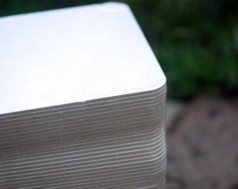 100 Blank 4 inch Square Coasters, heavyweight. Perfect for letterpress, crafts, etc