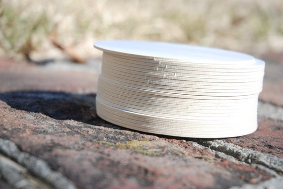 100 Blank 4 inch Round Coasters, heavyweight blank coaster stock. Perfect for letterpress, crafts, etc