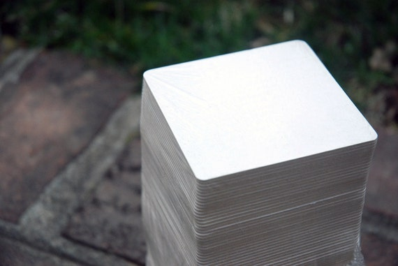 50 Blank 3.5 inch square Coasters, heavyweight. Perfect for letterpress, crafts, etc