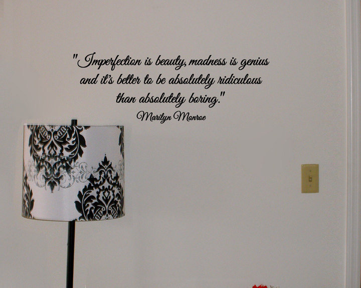 Marilyn Monroe quote removable wall vinyl by daydreamerdesign