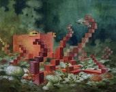 Animal Pixel Series - Octopus - 13 x 19 print