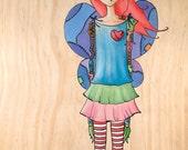 "SALE 11"" x 17"" original painting- aviator steampunk girl"