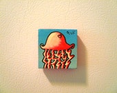 """JELLYFISH- 2"""" x 2"""" Hand-painted Tile MAGNET"""