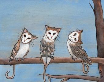 "11"" x 8.5"" print- ""Owlcats"""