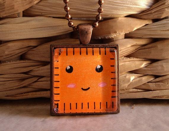 Handmade Cheezit Cracker Necklace- Art Pendant