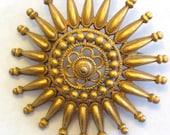 Vintage Cadoro Brooch In Golden Tone Metal