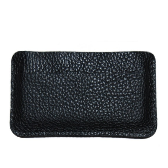 iPhone 4 Sleeve Side Opening Black Leather