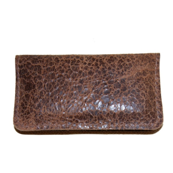 Distressed Brown LeatheriPhone iTouch Wallet