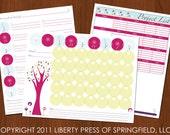 Printable Calendar, To Do List, Project List Combo Set - Printable LIst PDF - Binder, Planner, Organizer