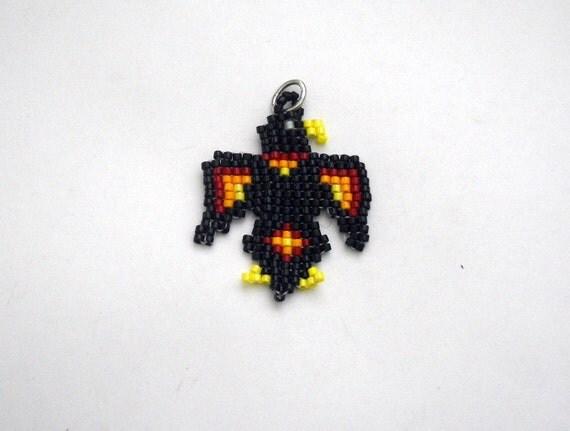 Black Bird Charm Handmade