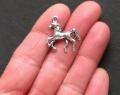 4 Horse Charms Antique  Silver Tone 3D Simply Beautiful - SC809