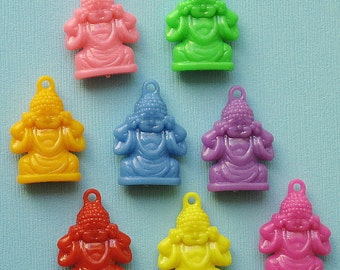 10 Colorful Buddha Charms Assorted K68