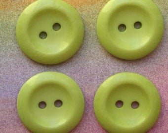 6 Large Lime Buttons BUT200