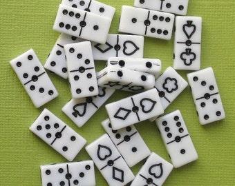 Mini Domino Tile Beads Charms (18) K041