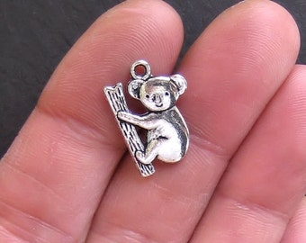 5 Koala Charms Antique  Silver Tone - SC276