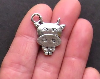 5 Cow Charms Antique  Silver Tone Elsie the Cow - SC805