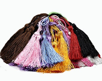 10 Tassels Multicolored Assortment Perfect for So Many Projects - Z40