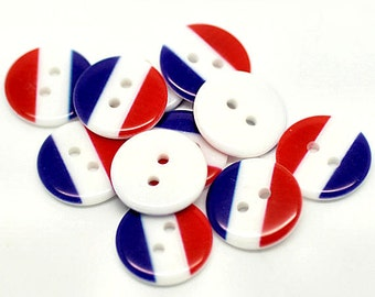 15 France Flag Buttons BUT185