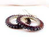 Cherry Silver Chic Wheel. January fashion jewelry. Hoop Earrings   Birthday gift idea made to order