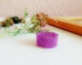 Radiant Orchid  Custom Band ring. Purple Amethyst Simple modern minimal style jewelry.