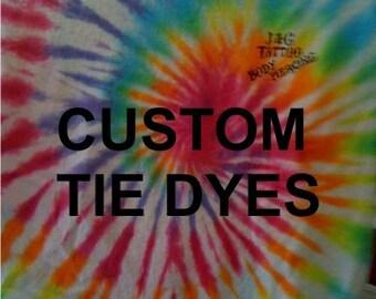 Custom Tie Dye T-shirts