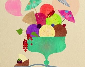 Ice cream-art print-limited edition