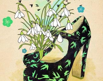 CHRISTMAS SALE 2015  Miu Miu-shoe cult-art print