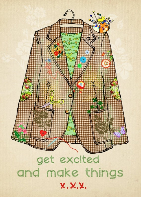 get excited - art print-limited edition of 50