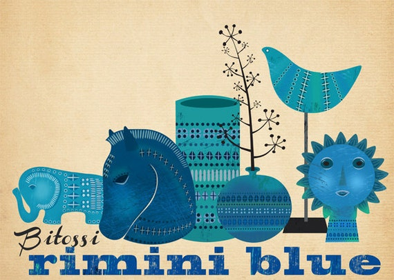 Bitossi Rimini Blue-Art Print-limited edition