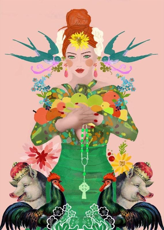 Goddess of Life-limited edition art print