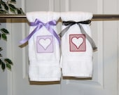 Custom, Made to Order, Valentine's Embroidered Hand Towel