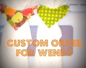 CUSTOM ORDER for Wendy.Pair of Stay-Put Kitchen Towels