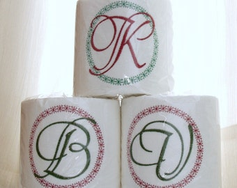 Custom Embroidered Toilet Paper