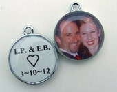 Resin Wedding or Memorial Photo Charm Personalized with Your Picture