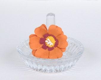 Happy Orange Flower Ring