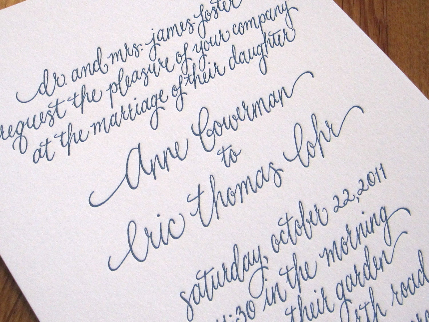 Wedding Invitation Calligraphysophie Script By Kristenhendo