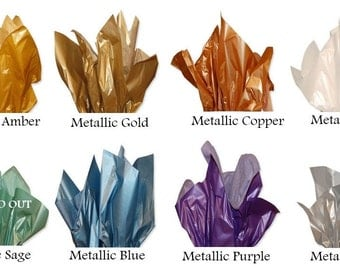 "25 Metallic Tissue Paper Sheets, 20"" x 30"""