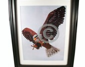 Bald Eagle Fashioned from Computer Parts. Signed Photo Print.
