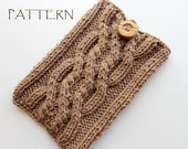 Pattern Knitted Aran Kindle Cover Sleeve - PDF file