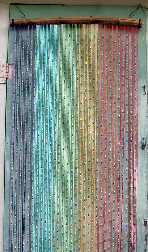 Items Similar To Bead And String Rainbow Curtain On Etsy