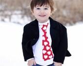 Red Heart Valentines Day Tie Shirt / Onesie