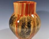 RESERVED for DJ Spalted Flamed Box Elder vase
